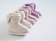 Topánočky - Papučky pre bábätko - ružové - 11579262_
