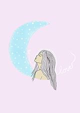 """Grafika - Ilustrácia """"Moon Girl"""" - 11578986_"""