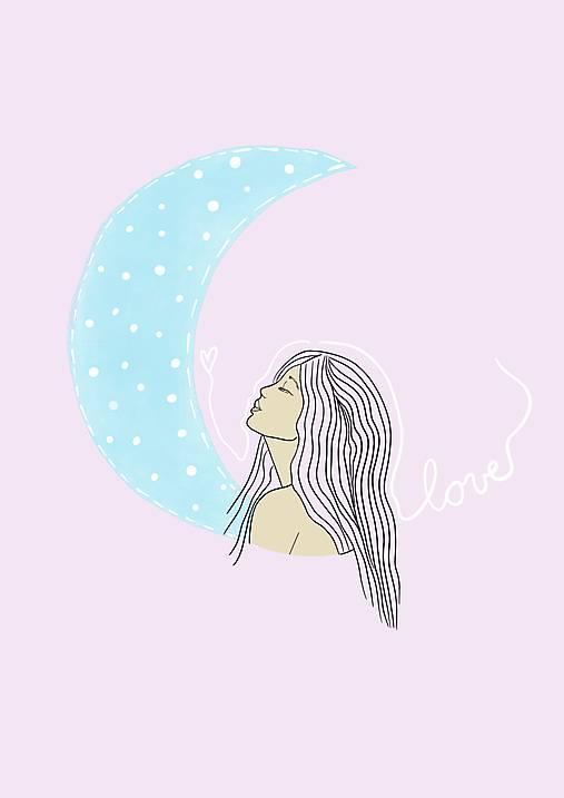 """Ilustrácia """"Moon Girl"""""""