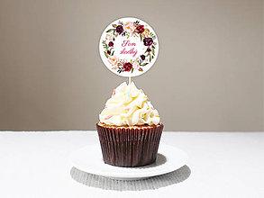 Grafika - Zápichy do koláčov Burgundy 1(elektronická verzia) - 11580445_