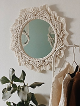 Zrkadlá - Makramé zrkadlo - 11579726_