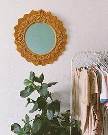 Zrkadlá - Makramé zrkadlo - 11579713_