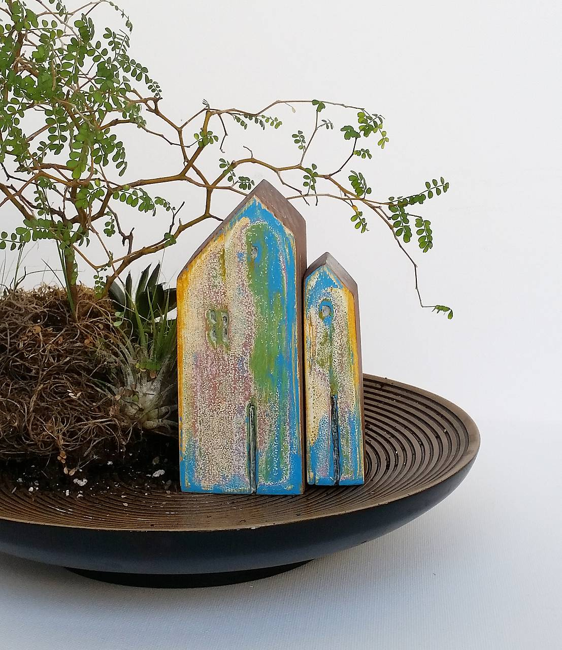 Drevené domčeky