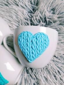 Nádoby - Valentín pohárik jazerná modrá - 11580380_