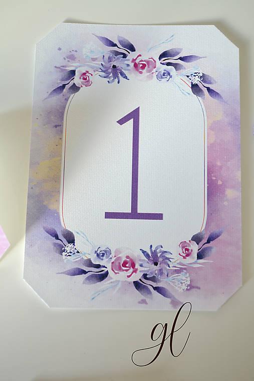 Svadobné tlačoviny pečať  (číslo stola)