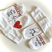 Obuv - Sada maľovaných ponožiek pre najlepšiu (doktorku) - 11580376_