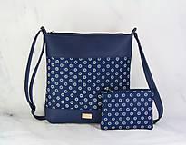 Kabelky - Dara XL set modrá + modrotlač 2 - 11579648_