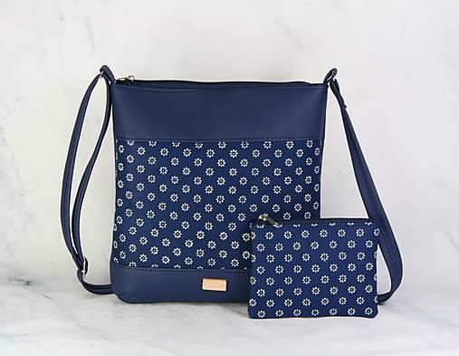 modrotlačová kabelka Dara modrá XL set 2
