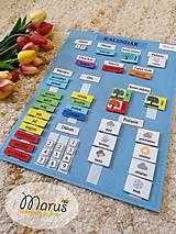 Hračky - Kalendár z filcu - 11578061_