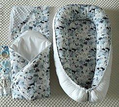 Textil - Set pre bábätko - Modrý motýľ - 11584048_