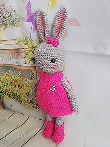Hračky - zajko +šaty - 11582708_