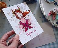 Grafika - Bunny girl/ pohľadnica - 11582197_