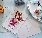 Grafika - Bunny girl/ pohľadnica - 11582198_