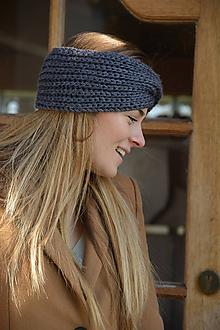 Ozdoby do vlasov - čelenka v šedé - 11580775_
