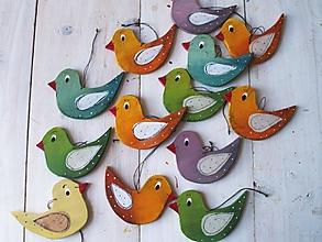 Dekorácie - Vtáčiky - dekorácie - 11581488_