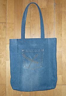 Nákupné tašky - Ríflová taška tmavomodrá - 11582182_