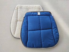 Úžitkový textil - RUNO SHOP Hrejivý sedák do auta 100% Ovčia vlna Baranček proti prechladnutiu a prehriatiu ROYAL BLUE kráľovská modrá - 11582593_