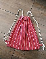 Batohy - Prúžky tak i tak, červený recy vak - 11580804_