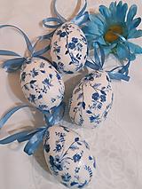 """Dekorácie - Sada veľkonočných kraslíc """"Nežne modrobiele II. - 11582141_"""