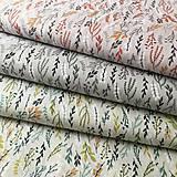 Textil - sivé vetvičky, 100 % bavlna Francúzsko, šírka 150 cm - 11581737_