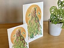 Grafika - Monstera vo vlasoch - Print | Botanická ilustrácia - 11584199_