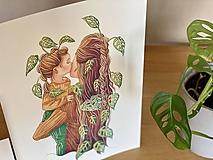 Mamy a dcéry -  Print | Botanická ilustrácia