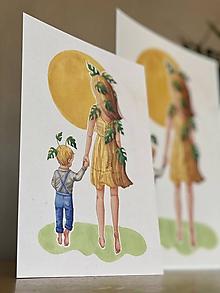 Grafika - Cesta za slnkom -  Print | Botanická ilustrácia - 11584168_