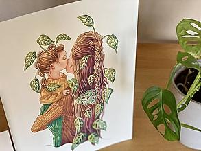 Grafika - Mamy a dcéry -  Print | Botanická ilustrácia (A3) - 11584204_