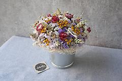 Dekorácie - Dekorácia zo sušených kvetov - 11583219_