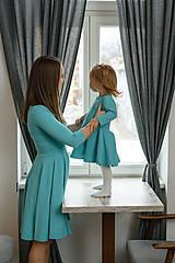 Šaty - Dámske šaty - aqua 3/4 rukáv - 11583120_