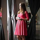 Šaty - Dámske šaty - coral 3/4 rukáv - 11583149_