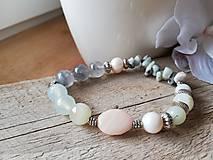 Náramky - Achát,amazonit,riečna perla - 11583885_