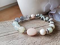Náramky - Achát,amazonit,riečna perla - 11583886_