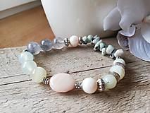 Náramky - Achát,amazonit,riečna perla - 11583887_