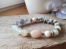 Náramky - Achát,amazonit,riečna perla - 11583888_