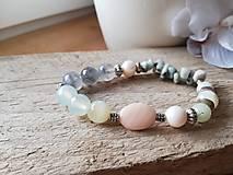 Náramky - Achát,amazonit,riečna perla - 11583889_