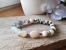 Náramky - Achát,amazonit,riečna perla - 11583891_