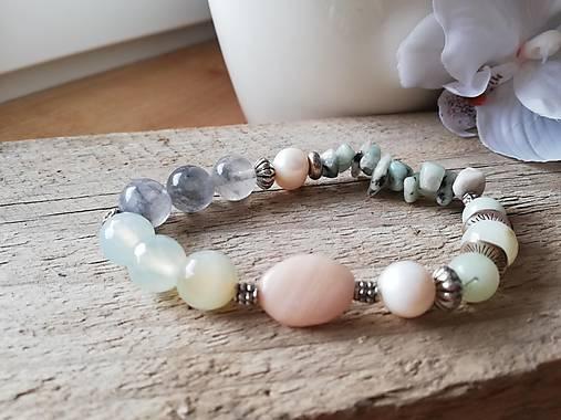Achát,amazonit,riečna perla