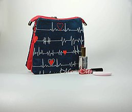 Taštičky - kozmetická taštička - EKG - 11583109_