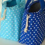 Iné tašky - Tyrkysová bodkovaná tvoritaška - 11582659_