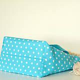 Iné tašky - Tyrkysová bodkovaná tvoritaška - 11582661_