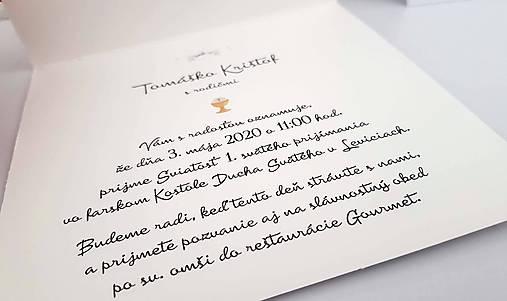 """Pozvánky na prvé sväté prijímanie """"Tomáško"""""""