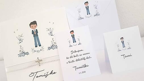 """Ďakovné kartičky """"Tomáško"""""""