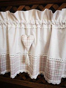 Úžitkový textil - Záclonka jemne smotanova - 11582157_