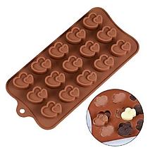 Pomôcky/Nástroje - Silikónová forma na čokolády, cukrovinky SRDIEČKA, 1 ks - 11582574_