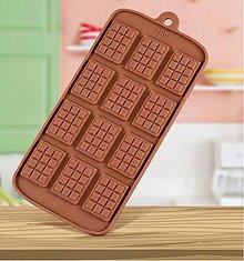 Pomôcky/Nástroje - Silikónová forma na čokolády, cukrovinky ČOKOLÁDKY, 1 ks - 11582656_
