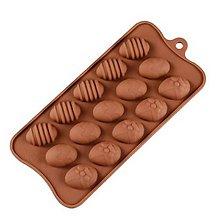 Pomôcky/Nástroje - Silikónová forma na čokolády, cukrovinky VEĽKONOČNĚ VAJÍČKA, 1 ks - 11582668_