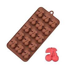 Pomôcky/Nástroje - Silikónová forma na čokolády, cukrovinky ČEREŠNE, 1 ks - 11582698_