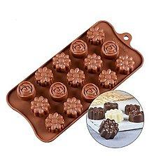 Pomôcky/Nástroje - Silikónová forma na čokolády, cukrovinky KVETY, 1 ks - 11582746_