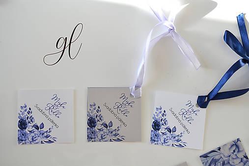 Svadobné oznámenie pečať kvety - set (etiketa na fľašu - PET)